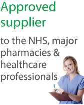 Approved supplier to NHS, major pharmacies and healthcare professionals